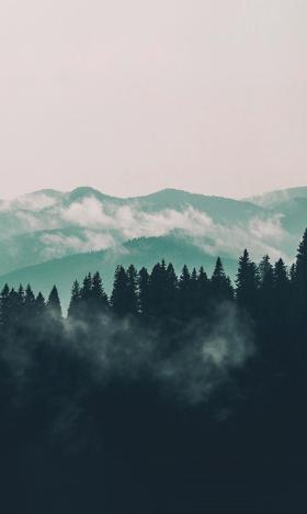 大自然的优美壮观山峰风光