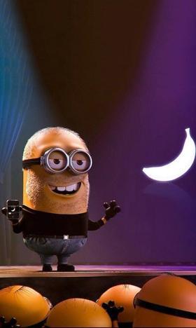 小黄人之落下的香蕉背景图