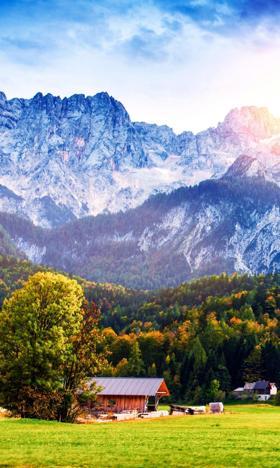 欧洲阿尔卑斯山脉图片手机壁纸