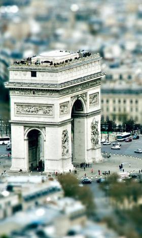 巴黎弧形背景图