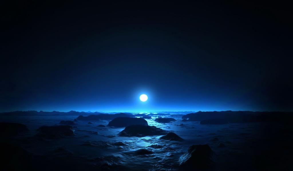 最新夜晚的月亮背景图