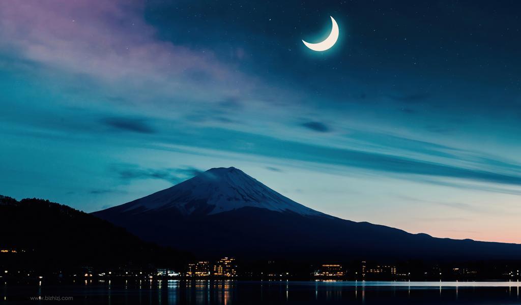 富士山夜景壁纸图片