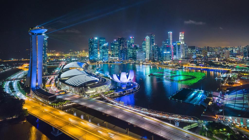 新加坡夜景图片真实图片