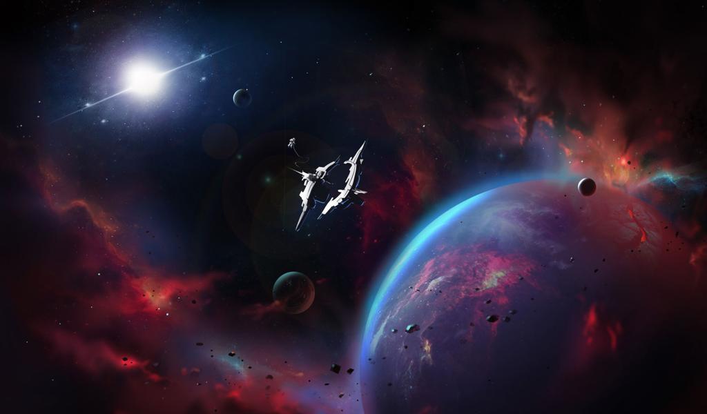 最新宇航员外出太空作业电脑壁纸图片