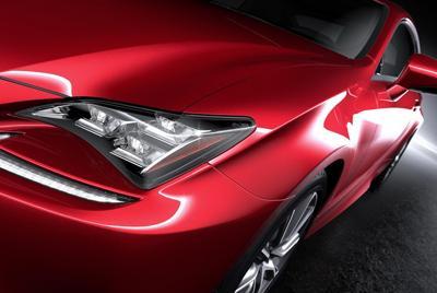 红色Lexus雷克萨斯rc官图壁纸高清