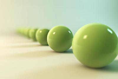 绿色3d小球电脑桌面壁纸高清下载