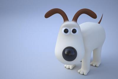可爱的3d小狗桌面壁纸