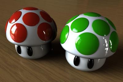 可爱的3D小蘑菇高清壁纸下载