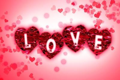 好看的唯美love爱心壁纸