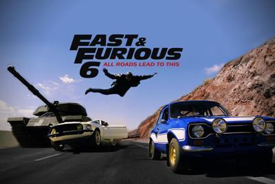 速度与激情6高清壁纸海报