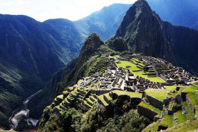 秘鲁印加古马丘比丘城建筑风景桌面壁纸