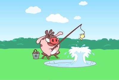 可爱小猪滚滚卡通壁纸图片大全