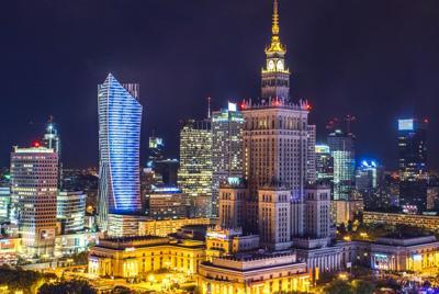 灯火阑珊的城市灯光夜景唯美城市壁纸