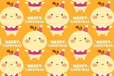 油爆叽丁圣诞节图片壁纸