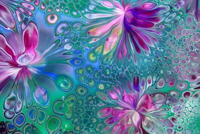 彩色颜料艺术背景图片壁纸