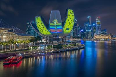新加坡唯美夜景电脑壁纸图片