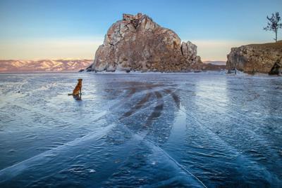 冷冻的冰面图片高清