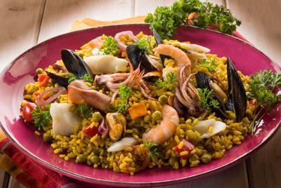 鲜香可口的海鲜饭高清美食图片