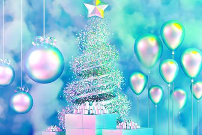 圣诞树装饰壁纸高清图片
