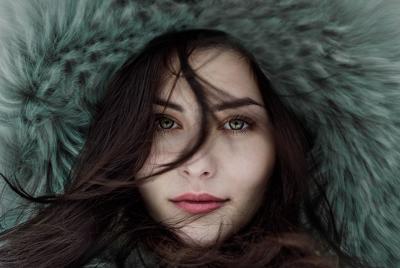 帽子 女孩 美丽的眼睛 唯美壁纸