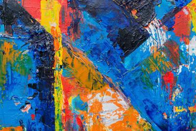 高清彩色颜料涂鸦艺术背景高清电脑壁纸