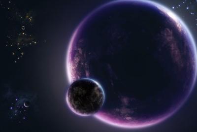 好看的宇宙星球数字艺术壁纸图片