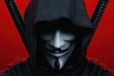 精美匿名者黑客背景图