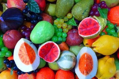 好看的丰富多彩颜色水果Knallbunt瓜桃葡萄橘子柠檬水果图片图片壁纸