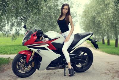 摩托车性感美女电脑壁纸图片下载