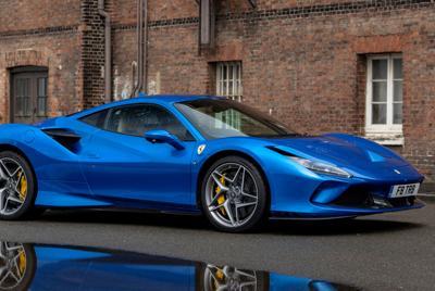 高清2021款蓝色法拉利F8Tributo电脑桌面壁纸