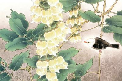 花鸟水墨画桌面壁纸